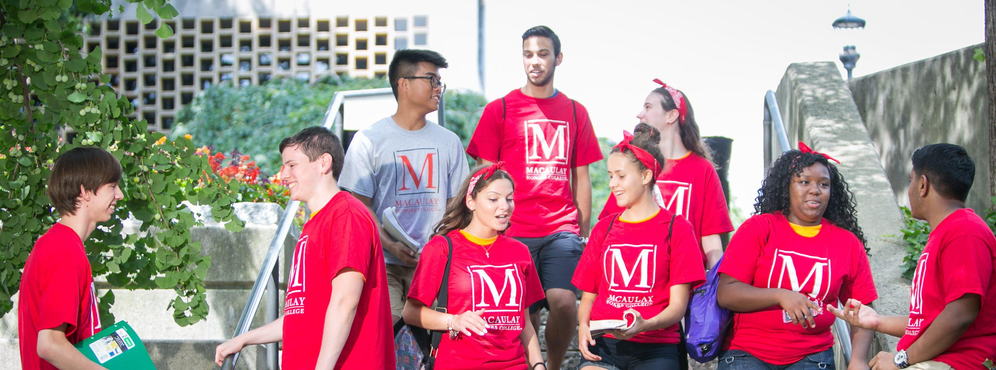 Macaulay Students at Orientation 2015