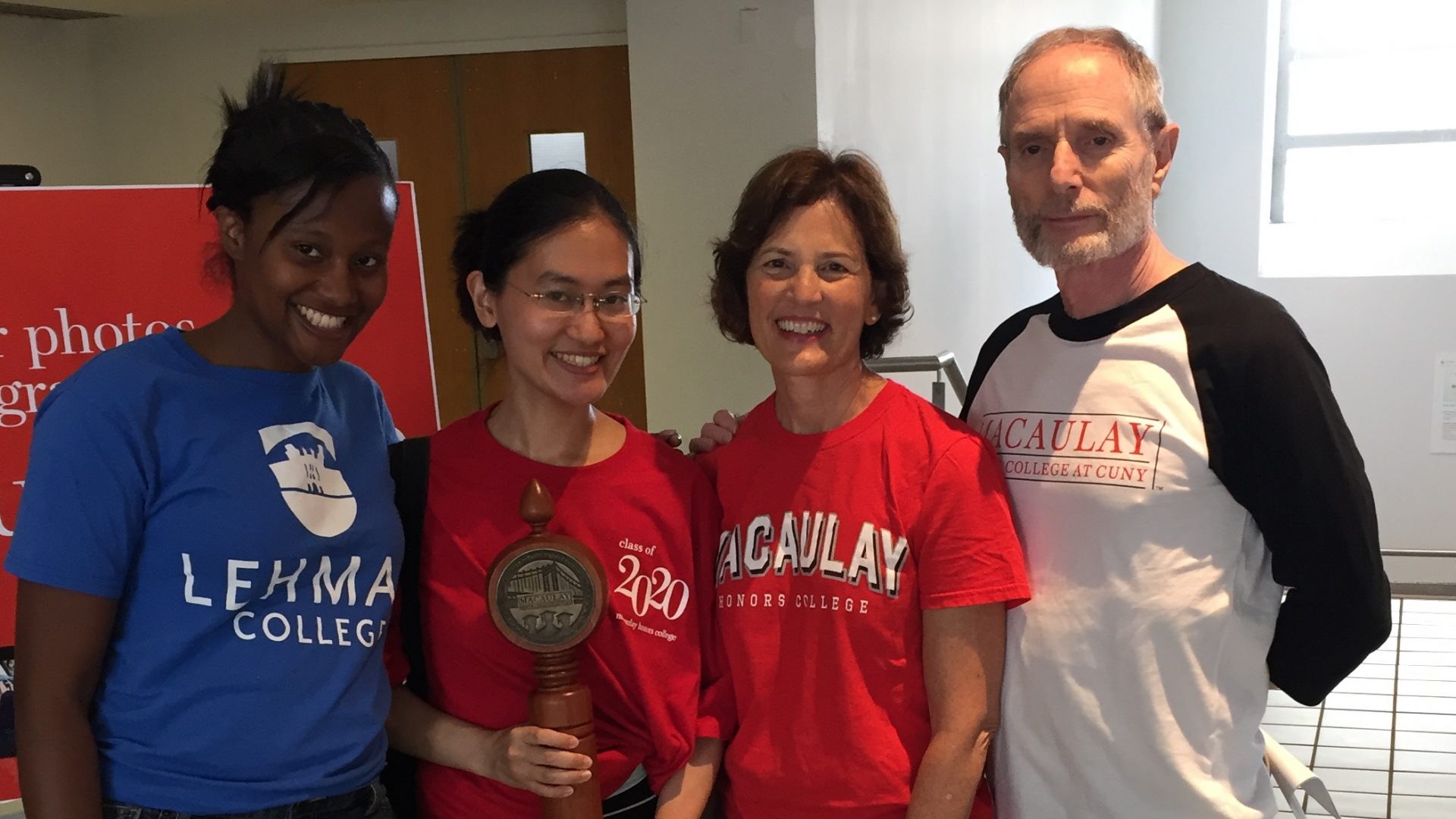 Advising and Support, Dean Mary Pearl with student award winners