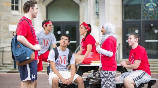 Students at Macaulay orientation
